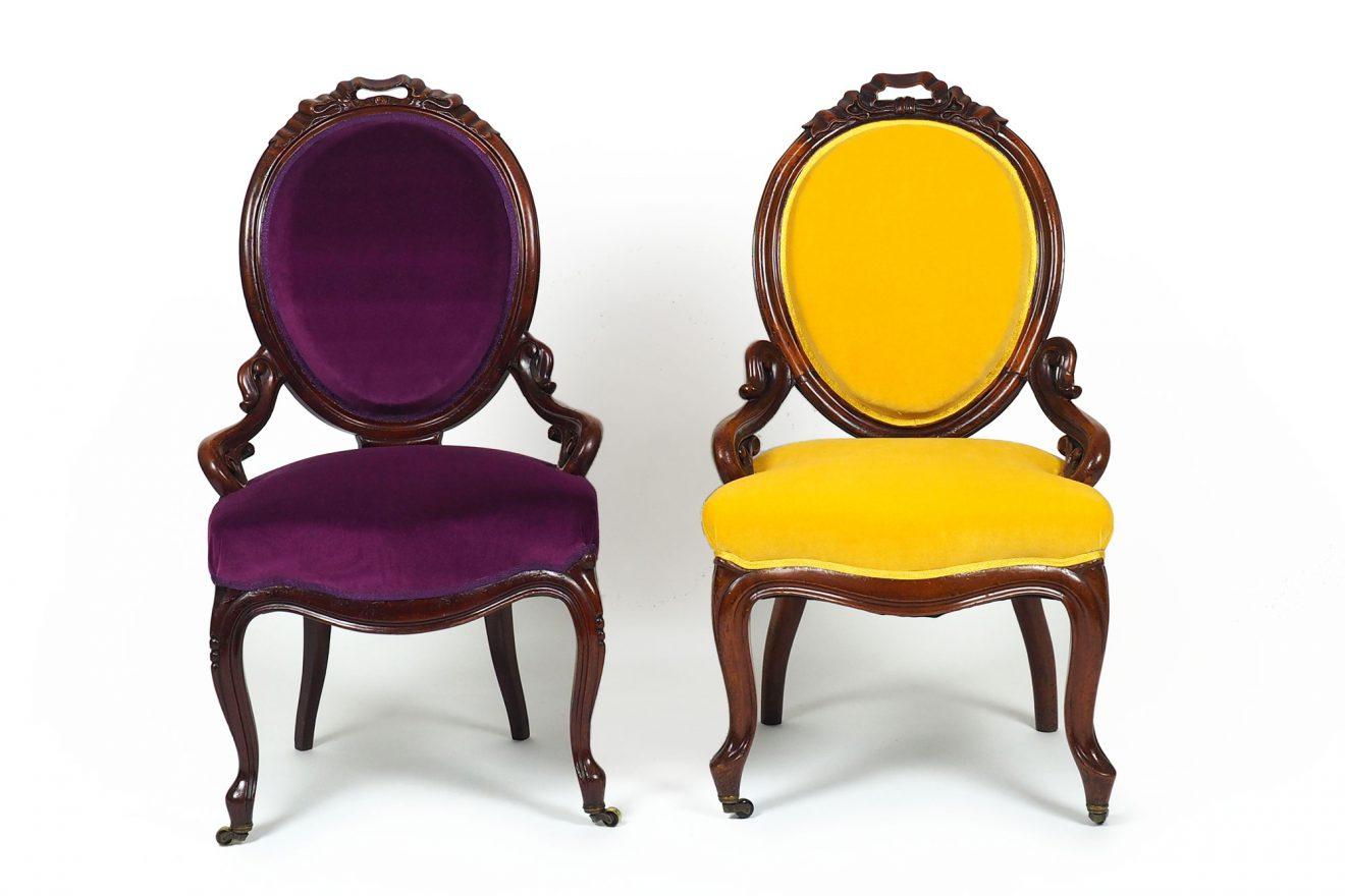 Louis-Philippe Medaillon Stühle um 1870