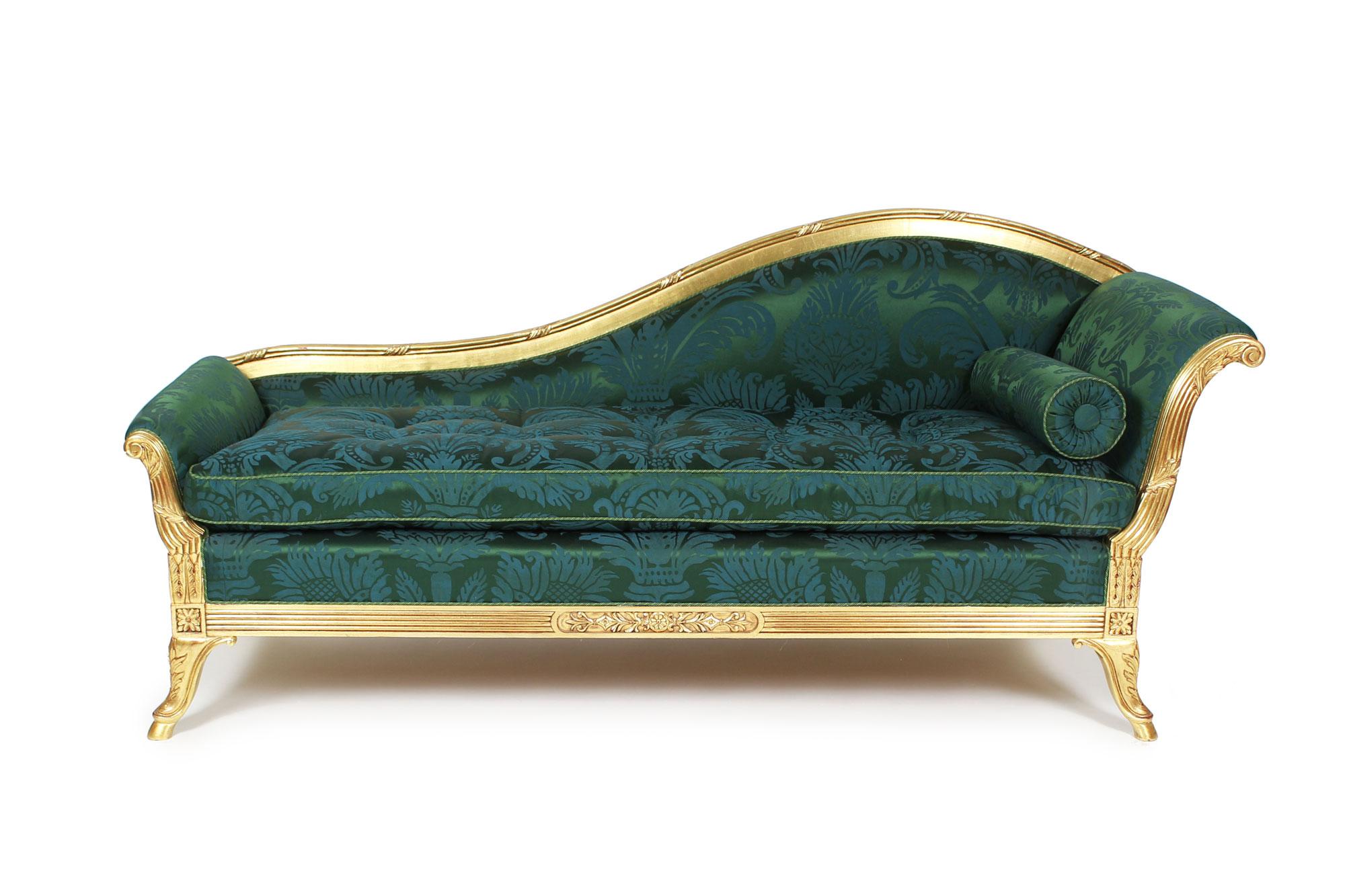 Vergoldete Recamière um 1890